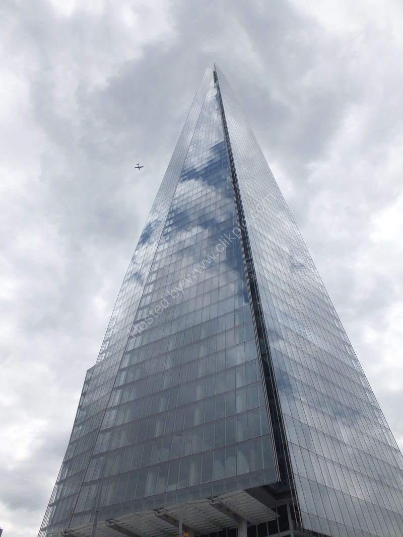 Flying past The Shard!