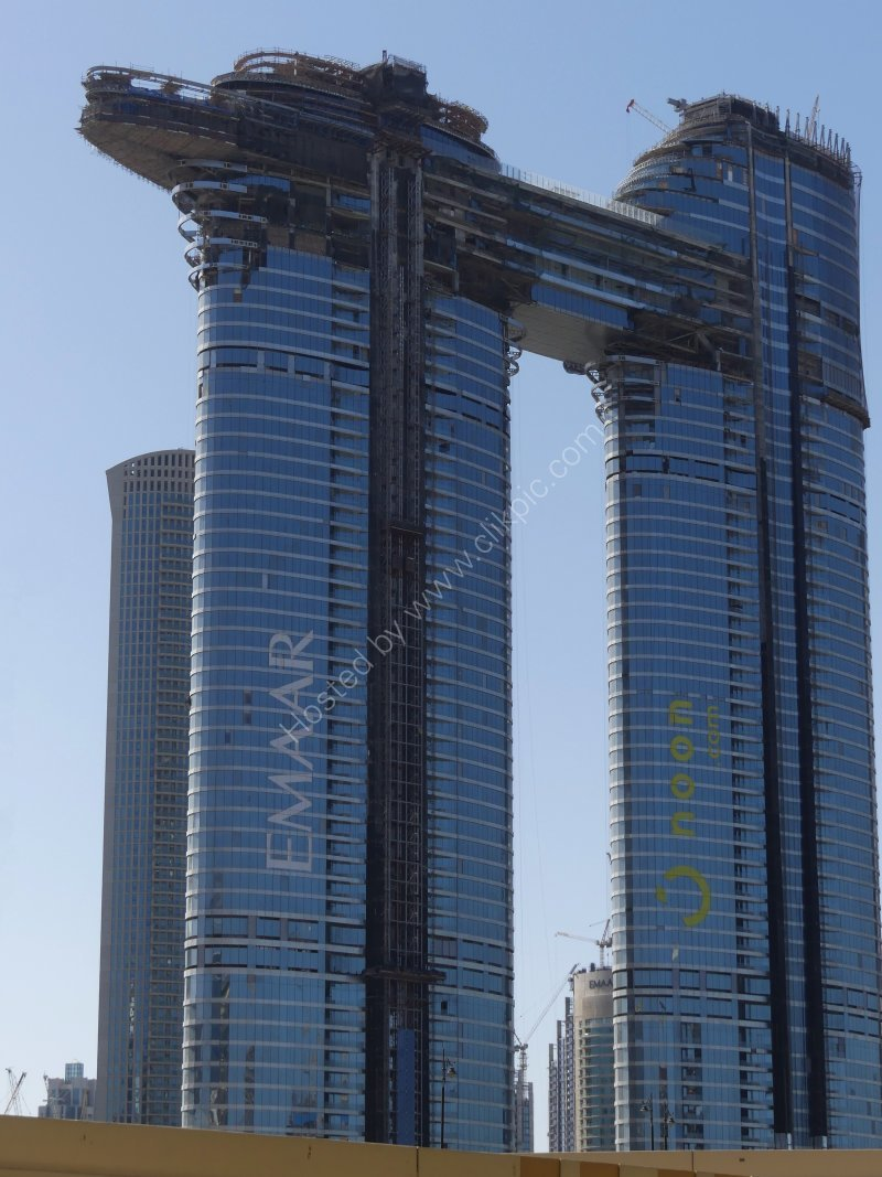 Skyscraper under Construction, Sheik Zayed Road, Dubai 2019