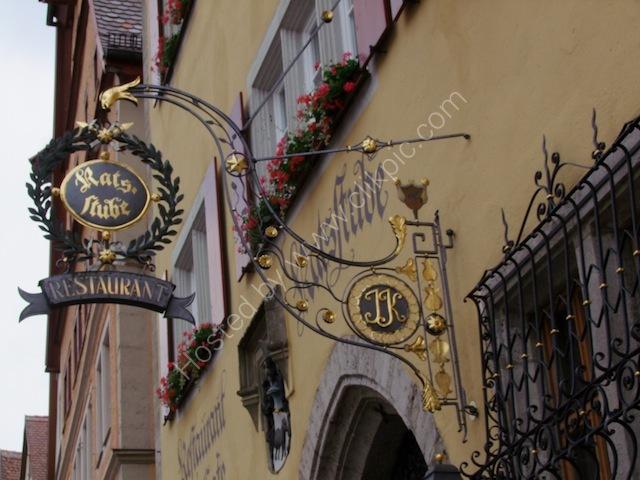 Restaurant Sign, Rothenburg