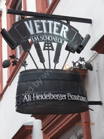 Heidelberg Vetter Brewhouse Sign