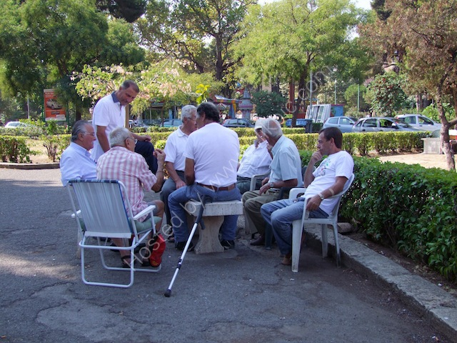 Sicilians Playing Cards, Piazza Indipendenza, Palermo