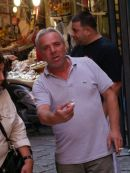 Sicilian Offering a Taste! Food Market, Palermo