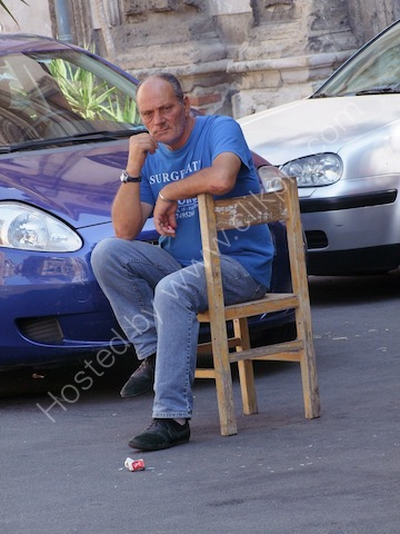 Sicilian Parking Attendant, Palermo