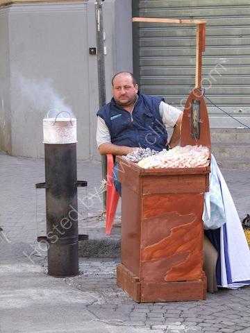 Sicilian Street Vendor, Via Roma, Palermo