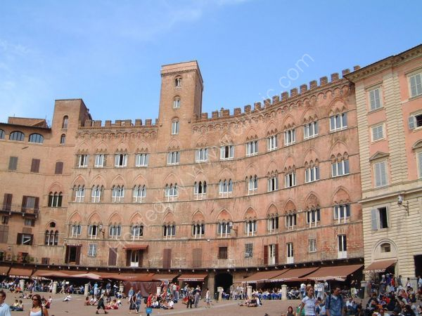 Buildings on Piazza del Campo, Sienna, Tuscany