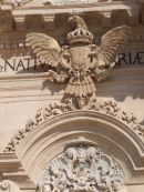 Decorative Coat of Arms on Facade of Cathedral, Piazza Duomo, Ortygia Island, Siracusa