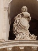 Statue on Cathedral Facade, Piazza Duomo, Ortygia Island, Syracusa