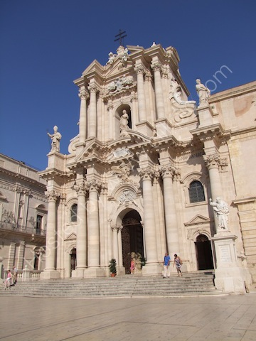 Baroque Facade of Cathedral, Ortygia Island, Siracusa