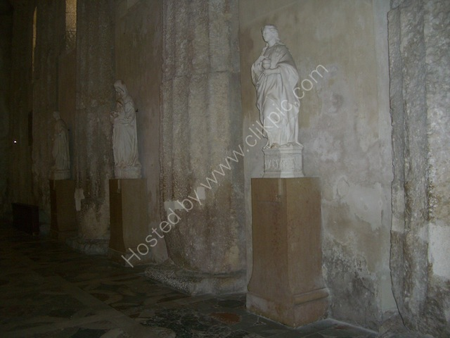 Inside Walls of Cathedral, Piazza Duomo, Ortygia Island, Syracusa