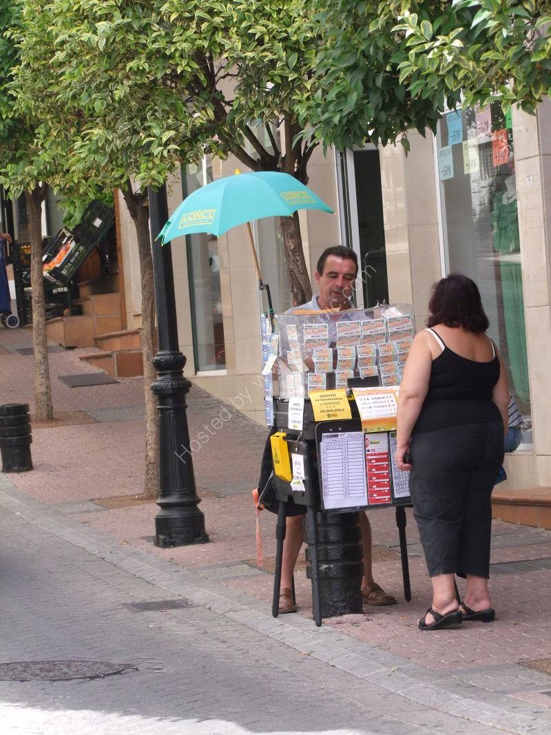 Lottery Ticket Seller, Marbella