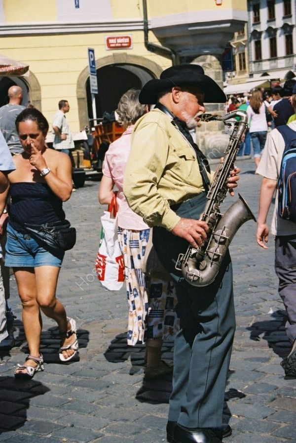 Street Enterainer, Prague, Czechoslovakia