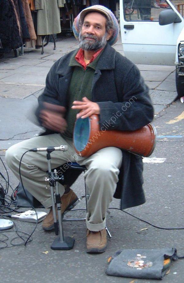 Street Musician, Portobello Road, London