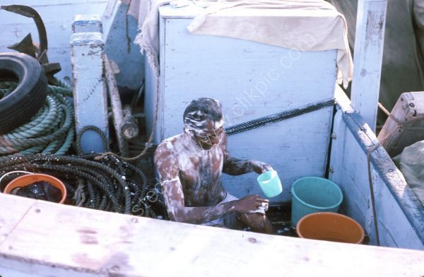 Taking a Bath on a Dhow, Dubai Creek