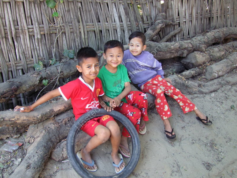 Three Myanmar Boys