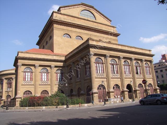 Back of Theatre Massimo, Palermo