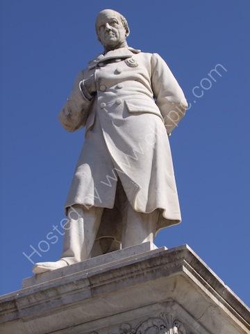 Statue of Giuseppe Damiani Almeyda, Theatre Politeama, Palermo