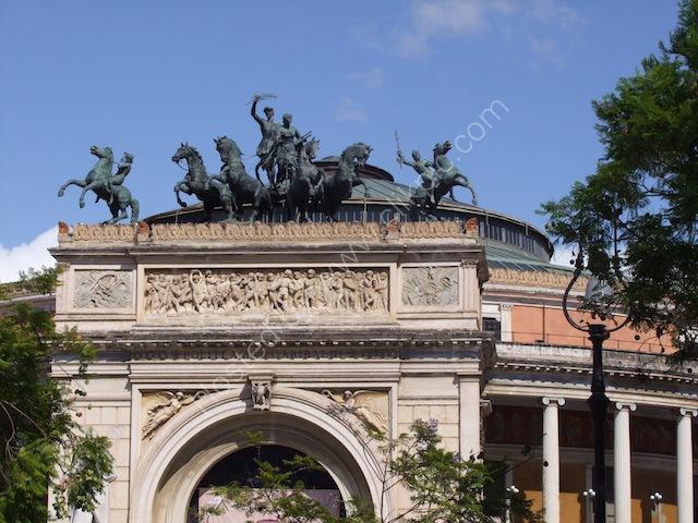 Detail of Entrance, Theatre Politeama, Palermo