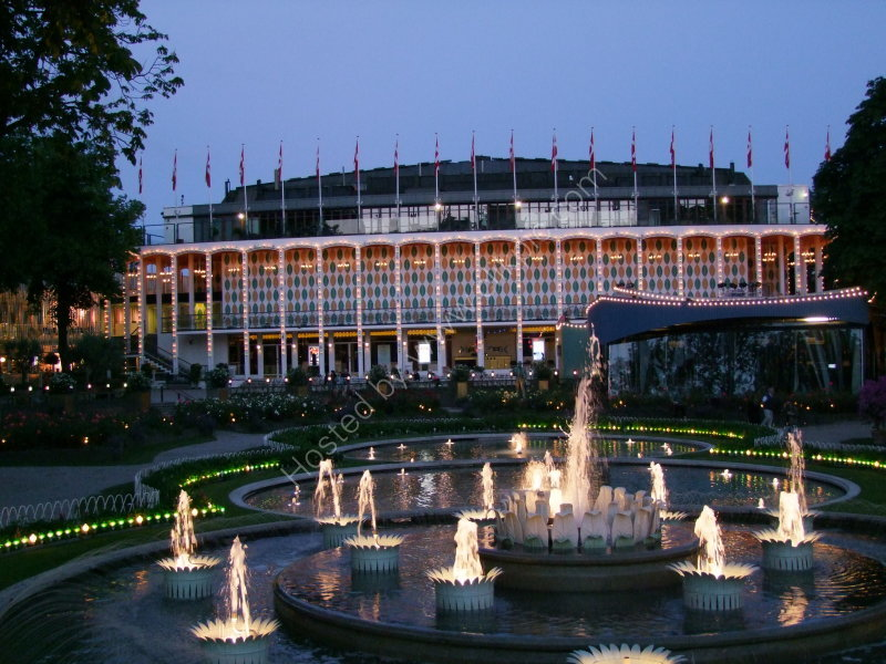 Concert Hall & Fountains at Night