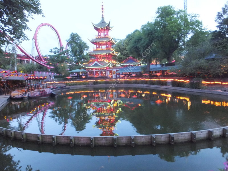 Reflections of Roller Coaster & Pagoda