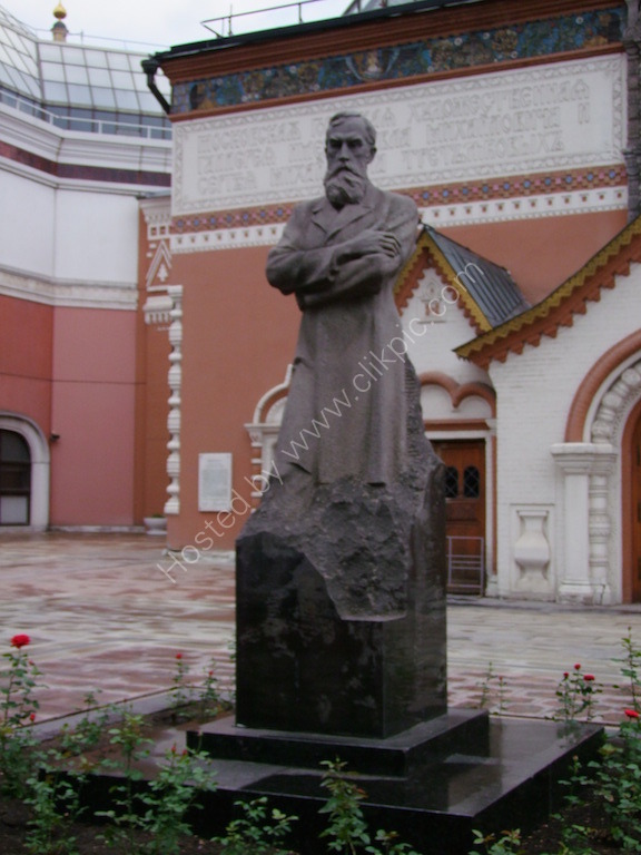 Statue of Pavel Tretyakov at Tretyakov Gallery, Moscow