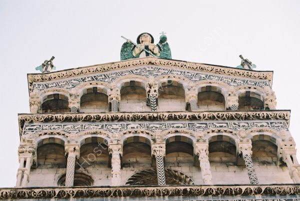Facade of San Michele Church, Lucca, Tuscany