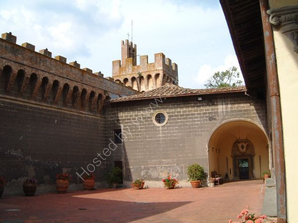 Courtyard in Castle Winery, Tuscany