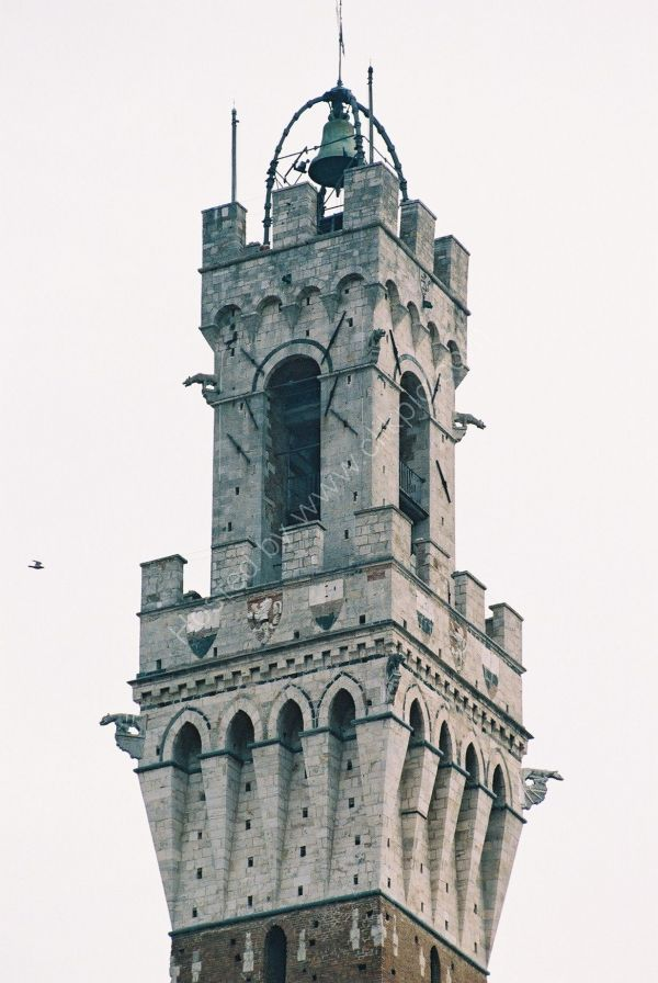 Top of Torre del Mangia, Piazza del Campo, Sienna, Tuscany