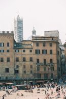 One Side of Piazza del Campo, Sienna, Tuscany