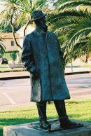 Bronze Statue of Giacomo Puccini at Lake Massaciuccoli, Tuscany