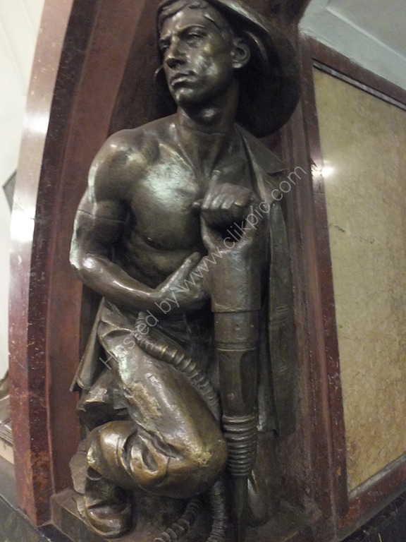 Bronze of a Miner, Metro, Moscow