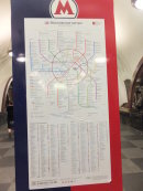 Metro Map, Moscow