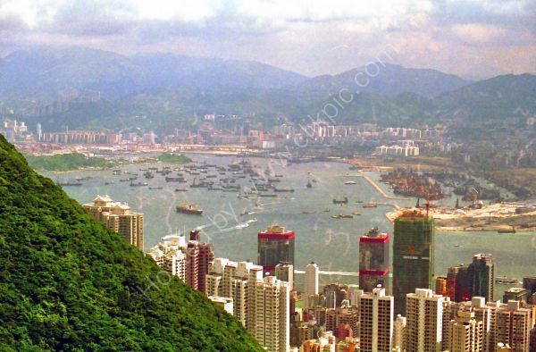 View of Victoria Harbour, Hong Kong
