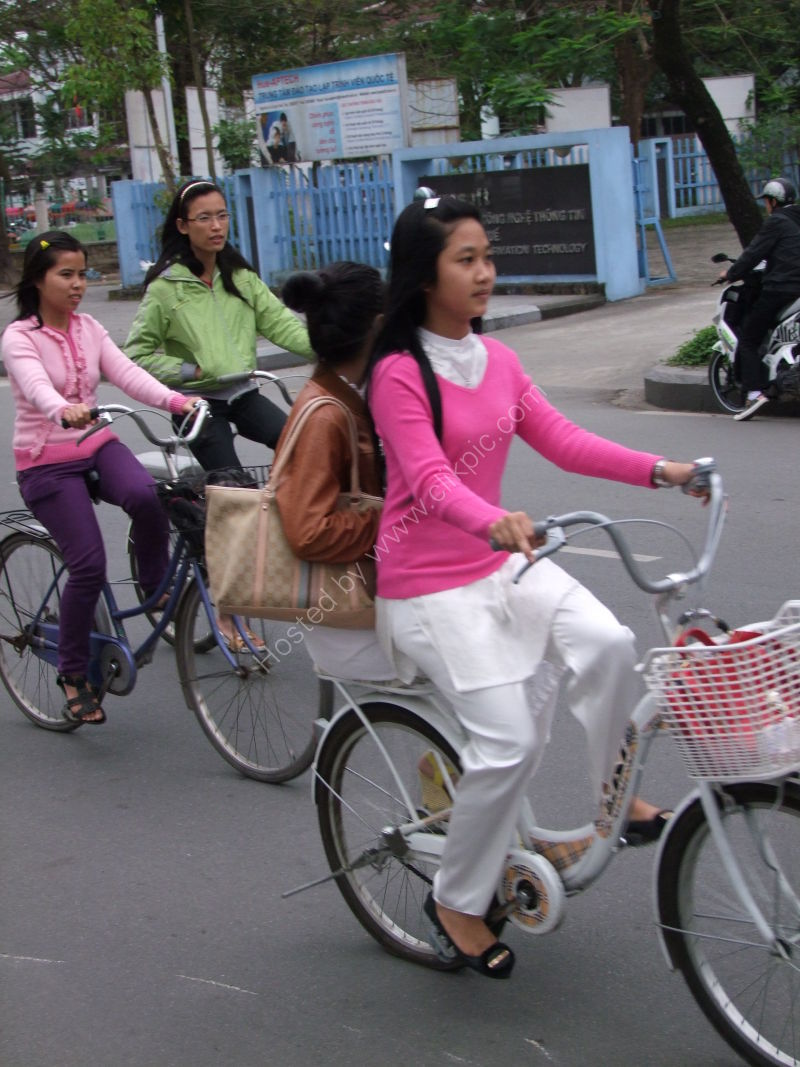 Vietnamese Girls on Bicycles