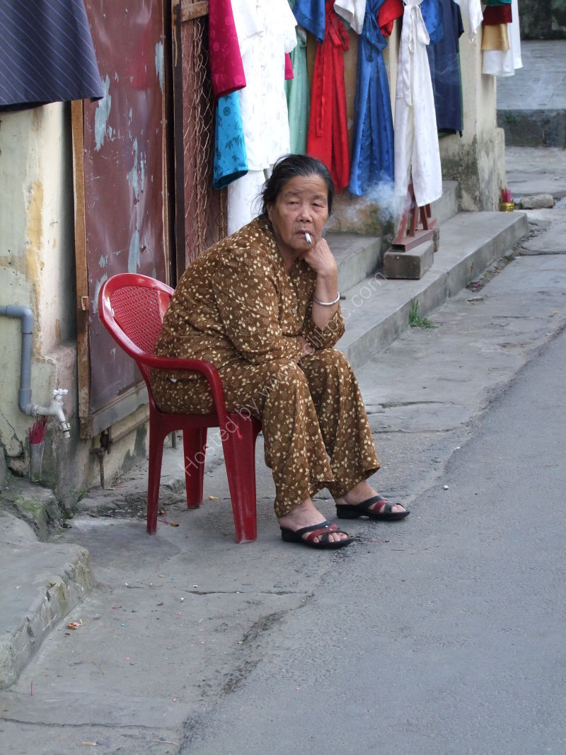 Vietnamese Lady Smoking