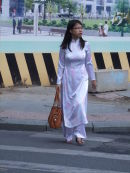 Vietnamese Lady in Traditional Dress