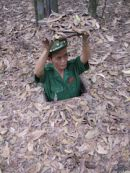 Vietnamese Soldier at Cu Chi Tunnels