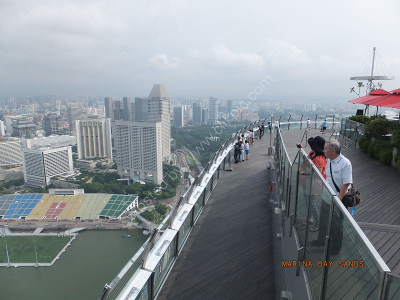 View from Skypark, Marina Bay Sands Hotel