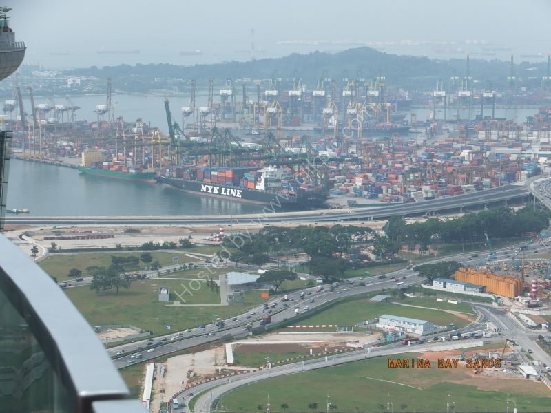 View of Docks from Skypark, Marina Bay Sands Hotel