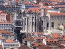 View of Cathedral do Carmo & Elevator Santa Justa