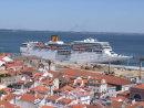 View of Lisbon Dock & Cruise Ship