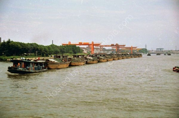Train of Barges, The Grand Canal, Wuxi to Suzhou