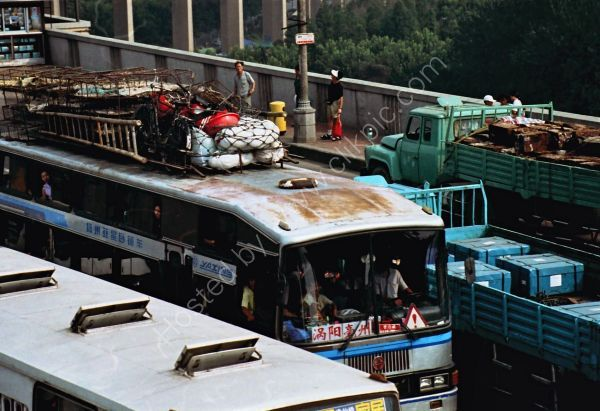 Buses, Yantze River Bridge, Nanjing