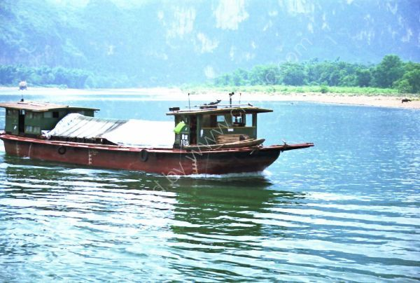 Laden River Boat, Zhujaing to Yangshuo