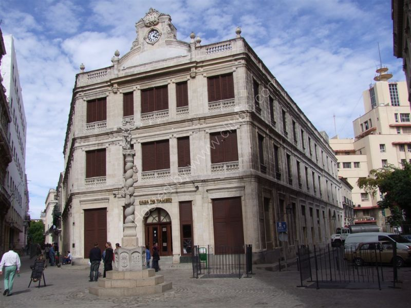 A bank, Plaza de San Francisco de Asis, Havana