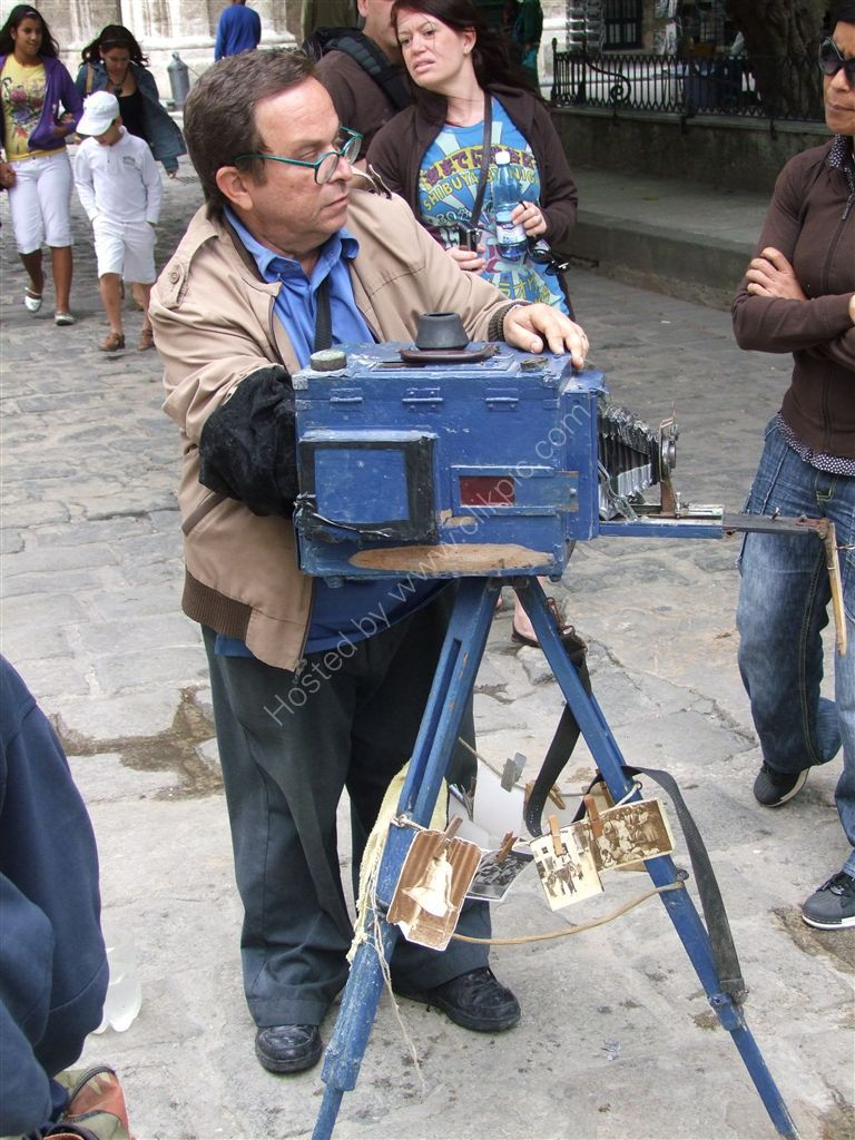 Black & White Photographer, Plaza Armas, Havana