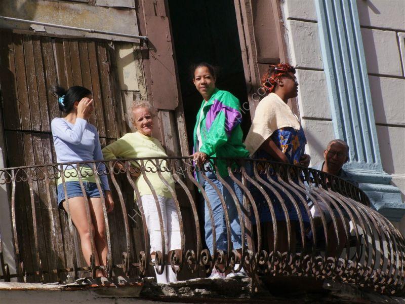 Cuban Family, Obispo Street, Havana