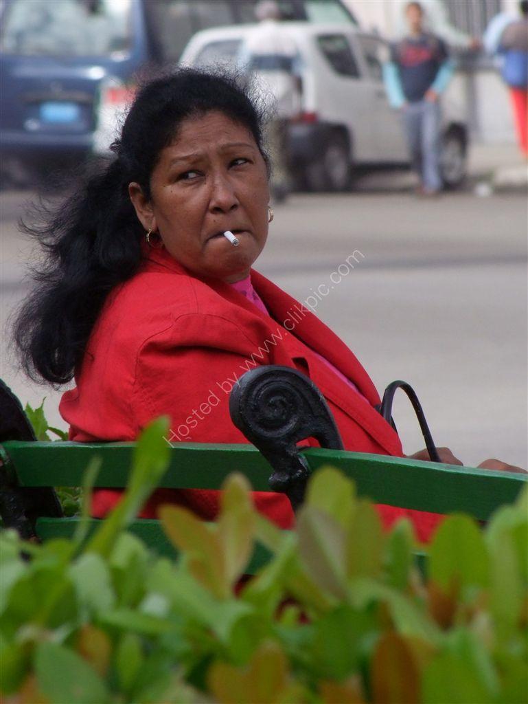Cuban Lady having a Fag!, Havana