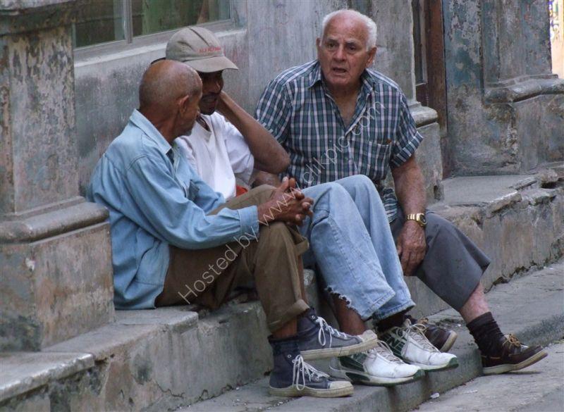 Cubans Passing Time!, Obispo Street, Havana