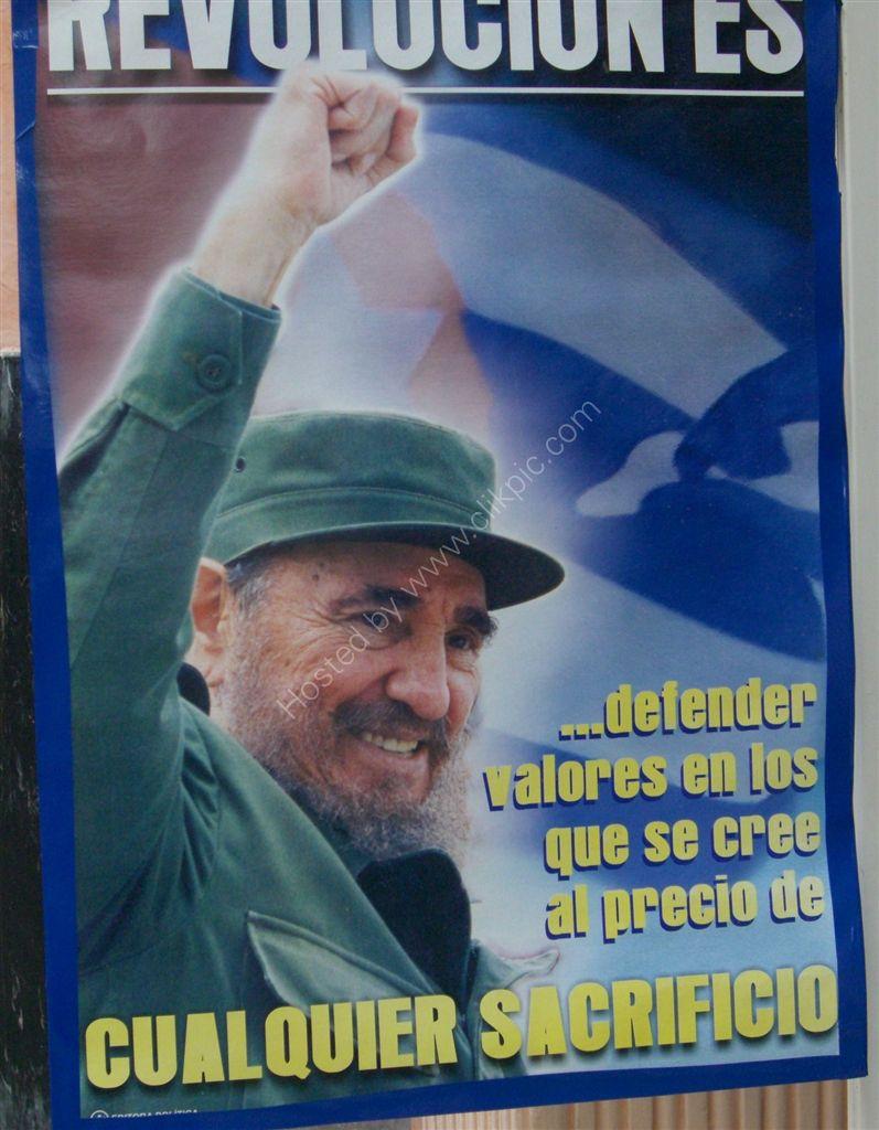 Fidel Castro Revolutionary Poster, Havana