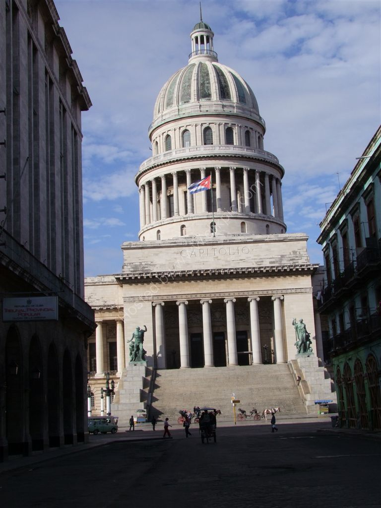 Front of The Capitol Building, Central Park, Havana